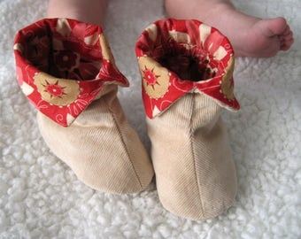 Toddler booties Sewing Pattern / Baby Fabric shoes / 6 different sizes / Modèle de couture Bottine Enfant