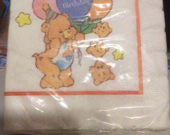 Care Bear Vintage Napkins Birthday Bear
