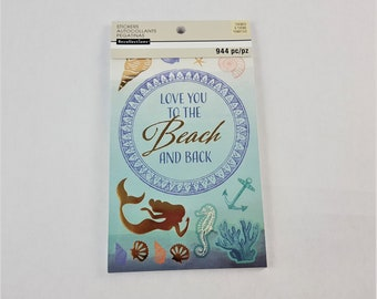 Sticker Book Coastal Beach Mermaid By Recollections 944 pc