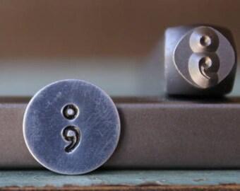 Brand New 6mm Semicolon Stamp Metal Design Stamp - Metal Stamp - Metal Stamping and Jewelry Tool - SGCH-171