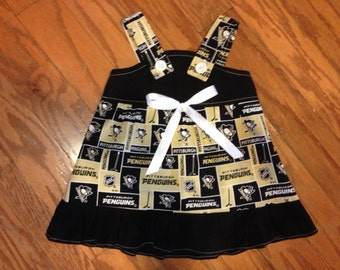 NHL Pittsburgh Penguins hockey Baby Infant Toddler Girls Dress  You Pick Size