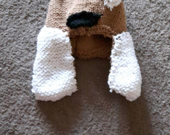 Hand Knit Dog Hat (child size)