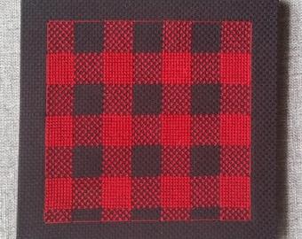 Buffalo Plaid Mounted Cross Stitch