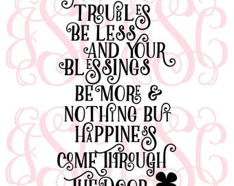 Troubles Be Less Vinyl Decal