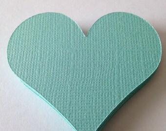 Hearts, Paper, Robin's Egg Blue, Turquoise, Aqua, Love