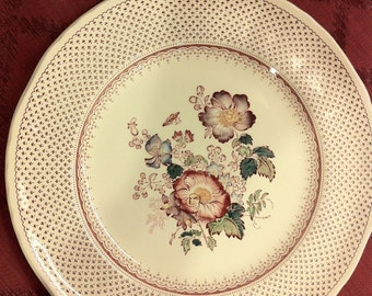 Perfect Mason's England Paynsley floral Pink Ironstone Dinner Plate 11.5""