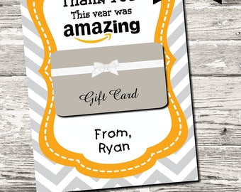 INSTANT DOWNLOAD This Year Was Amazing Thank You Card Printable Digital