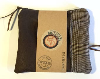 Faux leather, fabric cosmetic Scottish, gift for her