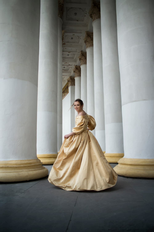 17th Century Golden Dress 1600s Gown