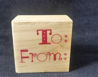To From  Used Rubber stamp