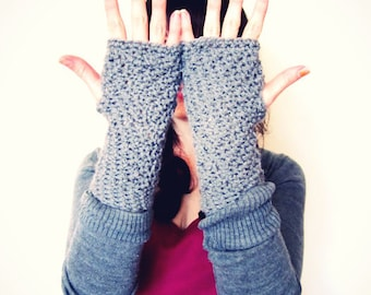 Crochet PATTERN PDF - Chatter Stitch Armwarmers - Fingerless Gloves - Easy - Womens Teen - Adult -Softspoken - Pattern No. SS003
