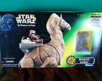 Star Wars Power of the force Ronto and Jawa 1990's Kenner