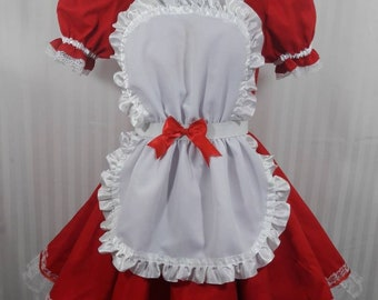 Lolita babydoll maid lolita cosplay dress adult--small to plus size choose color