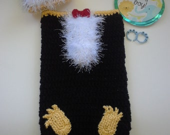 Baby Penguin Hat and Cocoon Set