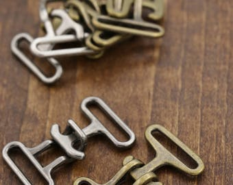 "1"" Metal Buckles/ Two Part Buckles Heavy Duty Metal Closures for Belting Accessories. Available in Nickel, Gunmetal and Antique Brass HR052"