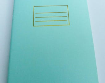 format A5 32 lined pages notebook green Leafs