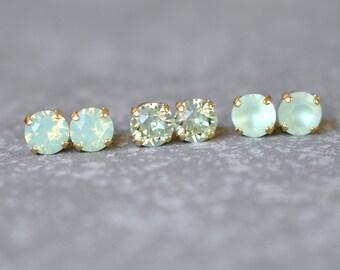 Green opal jewelry Etsy