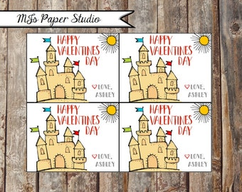Sandcastle/Beach Valentine's Day Cards