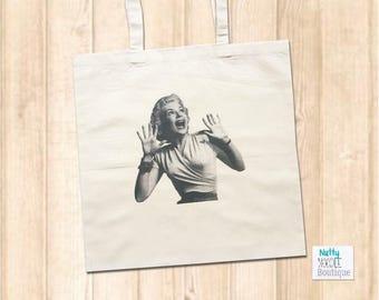 Canvas Shopper Bag - Retro Vintage  - Shocked Lady
