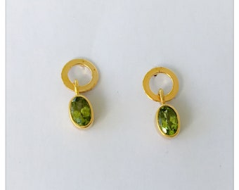 Earrings with Peridot