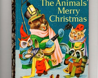 Vintage childrens book: The Animals' Merry Christmas by Kathryn B. Jackson, illustrated by Richard Scarry, 1st edition, Little Golden book