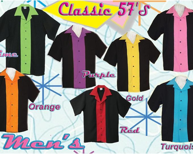 MEN'S BOWLING SHIRT - Free Shipping - Original Classic 57's in 7 Colors