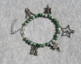 Agate tree with fairy charm bracelet