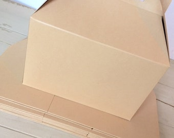 Large Kraft Gable Boxes (6)- Party or Wedding Favor Gift Boxes, Gift Wrapping