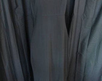 1990's Rabbit Rabbit silky long black dress withfaux beaded accents size 8