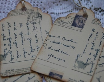 Post Cards From The Past Gift Tags