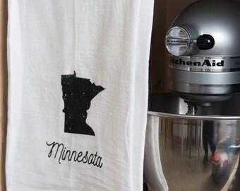 Minnesota or Minnesconsin  Tea Towel Flour Sack Towel MN Vikings