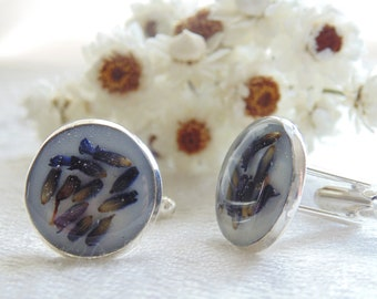 Custom made Cufflinks, Fathers Day Gift, Choose your Flower, Custom Order, Father of the Bride, Bridal Cuff links, Wishes on the Wind