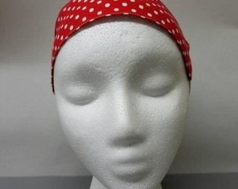 Headband - with - elastic - polka - dot - rockabilly - pinup - retro - vintage - style