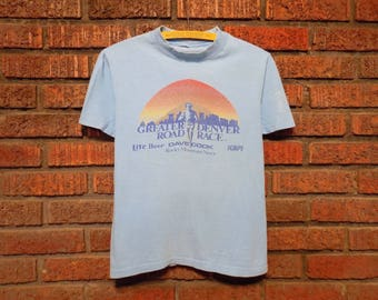 Vintage 80s Greater Denver Road Race T-Shirt Women's M