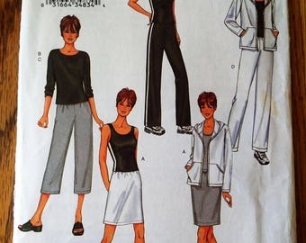 Butterick Fast and Easy Pattern #3467 Misses/Misses Petite Jacket, Top, Skirt and Pants