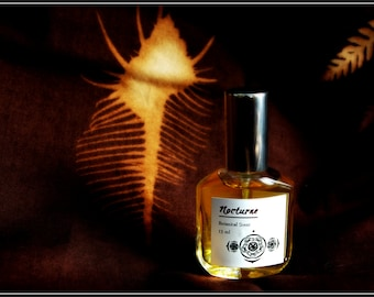 Nocturne Natural Perfume Spray, chocolate natural perfume with pure cocoa absolute, blood orange, vetiver, ylang, coriander, tonka