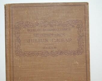 Vintage Book Julius Caesar, Fiction Book, Eclectic English Classics, Shakespeare