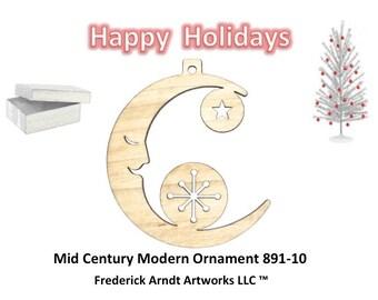 891-10 Mid Century Modern Christmas Ornament