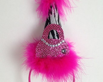 Diva Party Hat, Zebra Party Hat, Birthday Hat