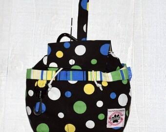 Designer bag w/plastic liner and pockets