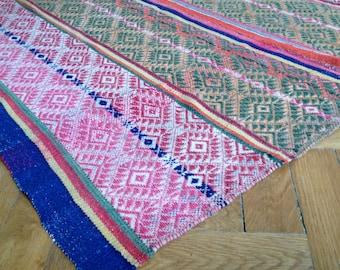 Unique Vintage Peruvian Rug / Blanket