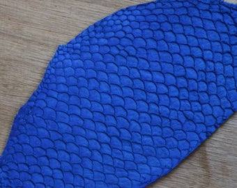 FISH leather skin electric blue Mat X 1