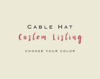 Adult Cable Knit Beanie/Faux Fur Pom Pom Beanie/Knitted Hat/Winter Hat/Knitted Hat/Slouch Hat/Slouch Beanie/ TEEN