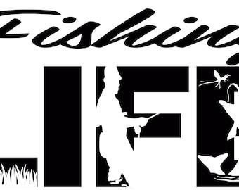 Fishing Life SVG Cutting File for Cricut