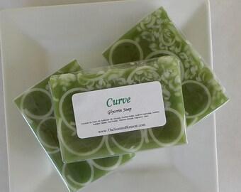 Soap - Curve Glycerin Soap - Men's Soap - Green Soap