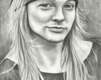 Axl Rose - Original Drawing