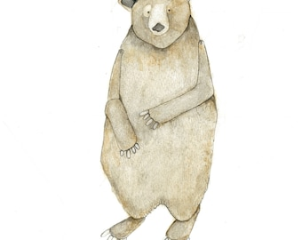 bear print 8 x10 rustic decor