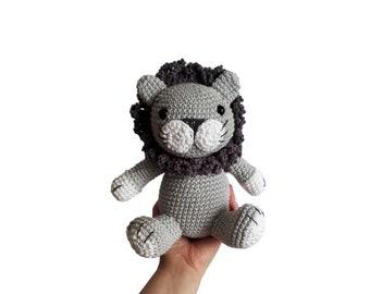 crochet lion - woodland animal - jungle animal - zoo - cotton toy - knitted lion - stuffed animal - amigurumi lion