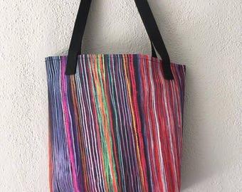 Peru Rainbow Loom Tote Bag