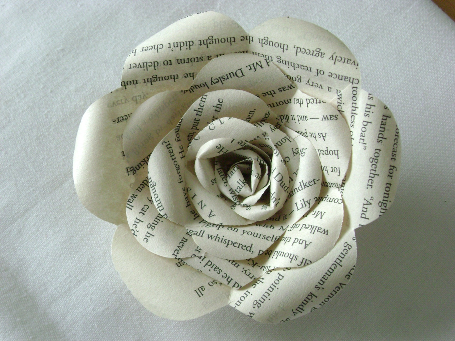 Harry potter book page paper rose long stemmed made from zoom mightylinksfo